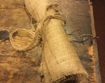 "Natural Burlap Table Runner 57""x14"""