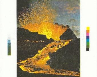 Reunion Volcano - Handmade Screenprint
