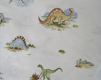 Dinosaur Pottery Barn Kids Fitted Sheet FULL Size Bed Boy Kids Bedding Pure Cotton Craft 100% Cotton Quilt Fabric Gently USED Clean