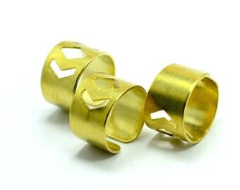40  Pcs.  Raw  Brass 14 mm width , 19 mm İnside Dieameter Ring Blanks