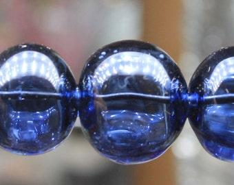 A set of hollow beads