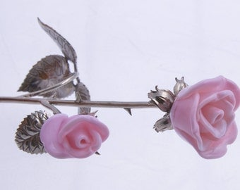 SS rose   branch with two rose buds. 25 cm.