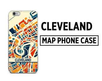 Cleveland Map Phone Case - Cleveland iPhone Case - iPhone 6 Case - iPhone 5 Case - iPhone 7 Case