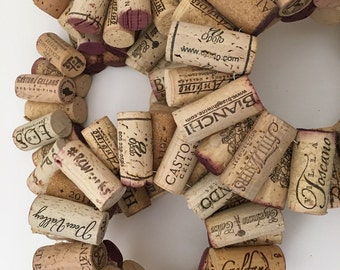 DIY Wine  cork candle rings.  Cork wreath~~~craft nite supplies ~~tealight size