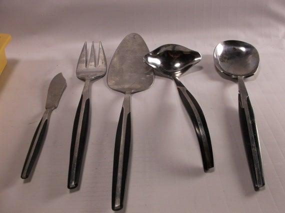Eldan mid century modern stainless flatware japan by retroricks - Contemporary stainless flatware ...