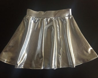 Dreaming Kids Silver Metallic Skirt