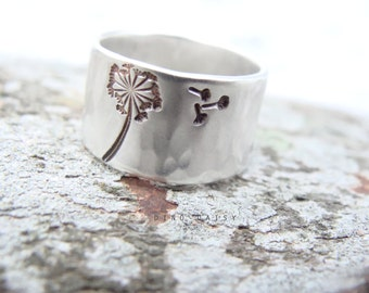 Personalised Sterling Silver Ring - Large