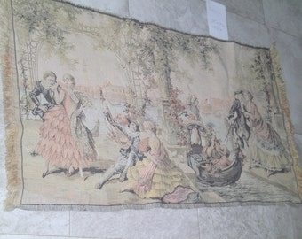 Vintage Blegium made tapestry Courtship & Romance