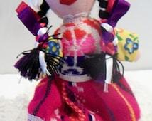 SHOP4FUN Vintage Mexican Folk Art Doll
