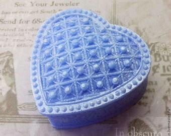 Silicone soap mold precious heart
