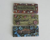 ONE Fairy Garden accessory Welcome Mat resin three styles to choose from, Door Mat for fairy door, fairy garden accessories, supply