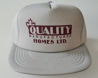 Vintage Quality Homes Trucker Style Snapback Hat VTG
