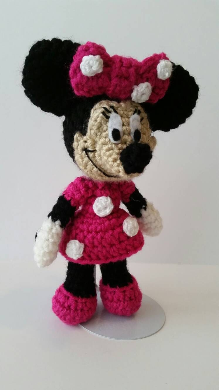 Crochet Minnie Mouse Doll : Pink OR Red Minnie Mouse Crochet Doll. 8 Doll. Minnie
