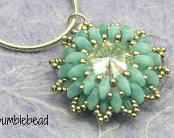 Crown Flower Pendant - A Beadweaving Tutorial