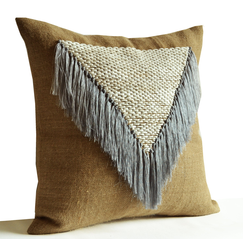 Shabby Chic Pillow Bohemian Throw Pillow Boho Decor Hand