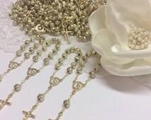 10%off weekend sale 75 pcs Rosaries, Mini Rosaries, Decade Rosaries, First communion favors Recuerditos Bautizo / Mini Rosary Baptism Favors