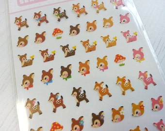 Lovely Deer Paper Sticker  - 1 Sheet