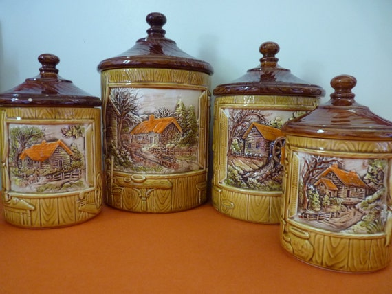 unique kitchen canisters kitchen canisters set of 4 lidded features four unique 15275