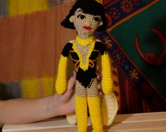 "Doctor Girlfriend, Doctor Mrs. The Monarch Venture Brothers 10"" crochet doll"