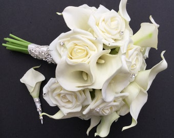 Wedding Bouquet Calla Lilies and Roses