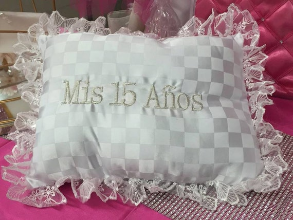 15 Anos Pillows: My Sweet 15 Fifteen Mis Quince Anos Pillow White Square Shaped