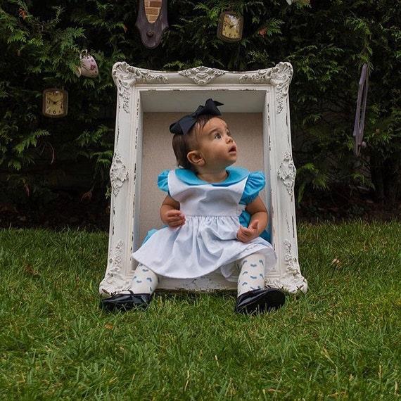 Girls Blue Dress Alice in Wonderland Baby Girls Dress