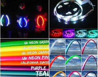 "Colored 5/8"" Polypro Hula Hoop Plus A Halloween LED Strip Light Kit"
