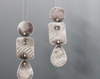 Sterling Silver Dangle Earrings III