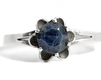Sapphire Vintage Ring Silver