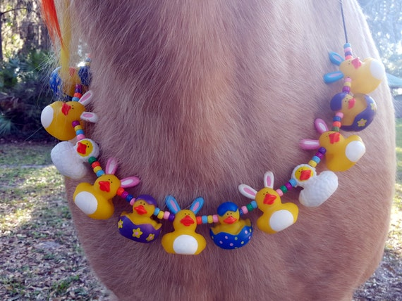 Rabbit Rubber Ducky Equine Necklace For Easter Necklace For