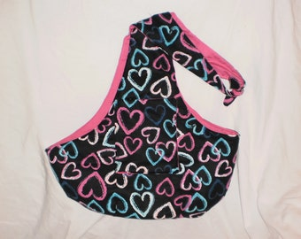 Hearts dog carrier sling