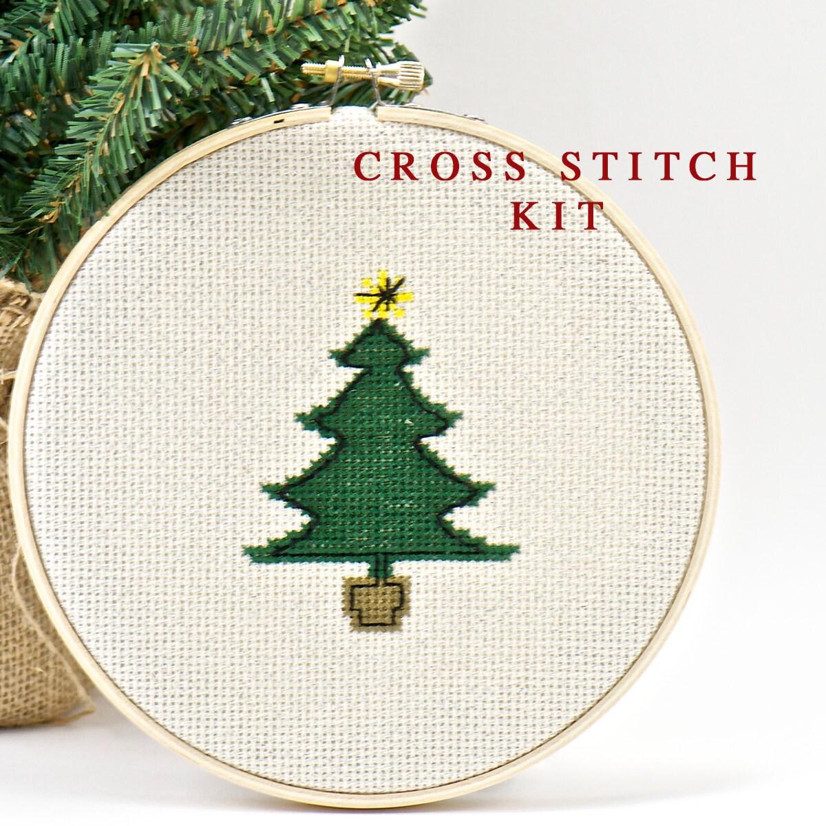 Christmas Tree Cross Stitch PLETE KIT Do It Yourself