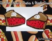 Rhinestone Cherry Blueberry Pumpkin Pie Slice Burlesque Pasties (Any Flavor)