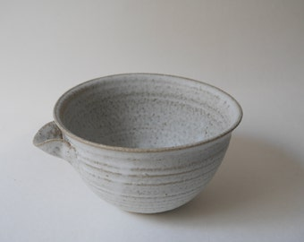 White Bowl with Spout