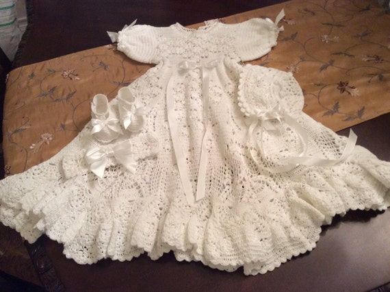 Crochet Christening Gown Pattern Lookup Beforebuying