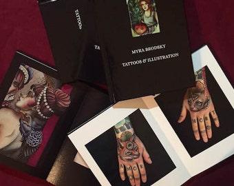 Myra Brodsky - Tattoos & Illustrations - Coffee Table Book