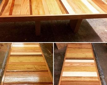 Bespoke handmade coffee table. High quality hardwood.