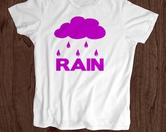 Purple Rain - Kids T Shirt -Toddler Shirt - Screen Printed -100% Cotton-