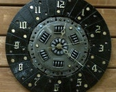 Re-purposed Automotive Clutch Plate Wall Clock