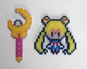 Sailor Moon Perler Beads Sprite