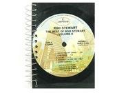 Rod Stewart vinyl record A6 notebook  Retro mini journal Rockabilly record notepad travel journal music lovers gift FB144