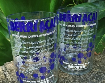Absolut Berri Acaì vodka glass (set of 2)