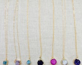 Natural Quartz Druzy Necklace