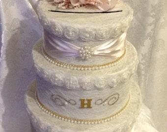 Wedding card box, lace card box