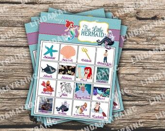 Little Mermaid Birthday Theme Party game Bingo