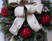 Christmas Wreath, Pine Wreath, Medium Size Wreath