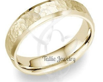 18K Mens or Womens Yellow Gold Wedding Band Ring  6MM Wide  Sizes 4-12  Free Engraving  New
