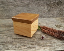 Rustic Ring Box / Pine Ring Box with Russian Olive Lid / Handmade Ring Box / Wooden Ring Box / Rustic Proposal Ring Box.