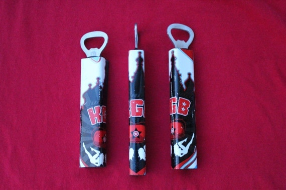Limited Edition Bottle Opener Made From Recycled Hockey Sticks