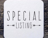 Special listing for Jonathan